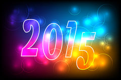 Happy new year 2015. Happy new year card 2015 Royalty Free Stock Photography