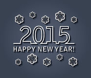 Vector happy new year 2015 Royalty Free Stock Photography