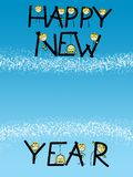 Happy new year card. Card or notice of happy new with empty place for current year vector illustration