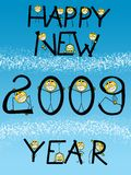 Happy new year card. Card or notice of Happy new year 2009 royalty free illustration