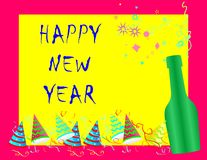 Happy new year card. Happy new year greetings cards royalty free illustration