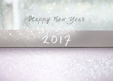 Happy New Year. 2017 card stock image