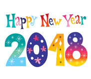 Happy New year 2018 Royalty Free Stock Photos
