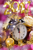 Happy new year 2017 card Royalty Free Stock Image