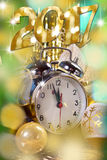Happy new year 2017 card Stock Images