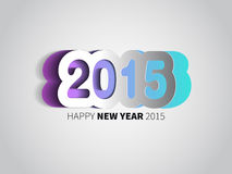 Happy New Year 2015 card  background Royalty Free Stock Image