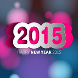 Happy New Year 2015 card  background Stock Photography