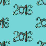Happy New Year card. Happy New Year background with hand drawn numbers Stock Photo