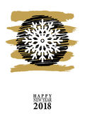 2018 Happy New Year card or background.  Royalty Free Stock Images