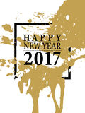 2017 Happy New Year card or background. Royalty Free Stock Image