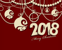 2018 Happy New Year card or background.  Royalty Free Stock Photos