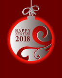 2018 Happy New Year card or background.  Royalty Free Stock Image