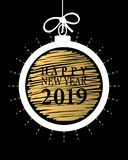 2019 Happy New Year card or background. vector illustration