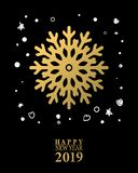 2019 Happy New Year card or background. royalty free illustration