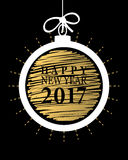2017 Happy New Year card or background. Stock Photo