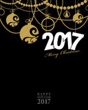 2017 Happy New Year card or background. Stock Photos