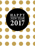 2017 Happy New Year card or background. Stock Images
