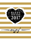 2017 Happy New Year card or background. Royalty Free Stock Photography