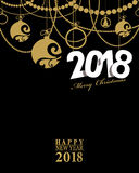 2018 Happy New Year card or background.  Stock Photos