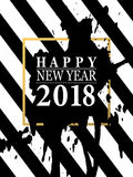 2018 Happy New Year card or background.  Stock Images