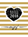 2018 Happy New Year card or background.  Stock Photography