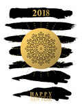 2018 Happy New Year card or background.  Stock Image