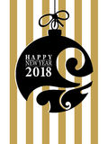 2018 Happy New Year card or background.  Stock Photo