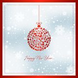 Happy new year greeting card vector illustration vector illustration