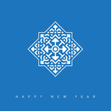 Happy New Year Card with a beautiful snowflake. Vector illustrat Royalty Free Stock Photo