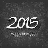 Happy new year card. Happy new year 2015 card,on black background,vector Royalty Free Stock Image