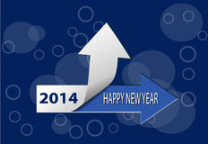 Happy New Year 2014 card. Happy New Year 2014  blue  card Stock Photos