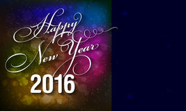 Happy New Year 2016 card. With blurred bokeh background and place for your text - vector illustration Royalty Free Stock Photography