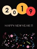 Happy new year card. 2019 year happy new year card celebrate celebration invitation greeting christmas illustration stock illustration