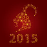 Happy new year 2015 card. Happy chinese new year 2015,the year of goat Royalty Free Stock Photography