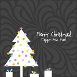 Happy new year card. Christmas card. Happy new year card. Christmas card with copy space Royalty Free Stock Image
