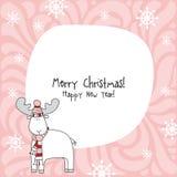 Happy new year card. Christmas card. Stock Photo