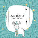 Happy new year card. Christmas card. Stock Images