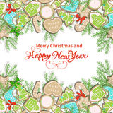 Happy New Year card Stock Photography