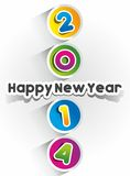 Happy New Year 2014 Card Royalty Free Stock Images