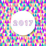 Happy new year card 2017. Colorful modern happy new year card 2017 Royalty Free Stock Photo