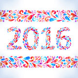 2016. Happy New Year card. Royalty Free Stock Photography