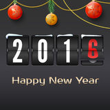 Happy new year 2016 card Royalty Free Stock Photos