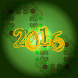 Happy new year card 2016 creative greeting card design Royalty Free Stock Images