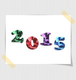 2015 Happy new year card. Decorative colorful numbers Royalty Free Stock Photos