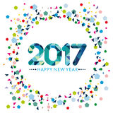 Happy New Year Card design Royalty Free Stock Photography