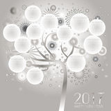 Happy New Year Card design Stock Images