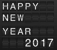 Happy New Year 2017 card in display board style Royalty Free Stock Photos