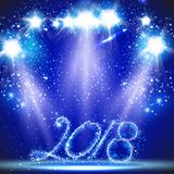Happy New Year card easy all editable Stock Images