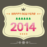 Happy new year 2014 card17 Royalty Free Stock Photography