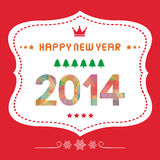 Happy new year 2014 card18 Stock Photography